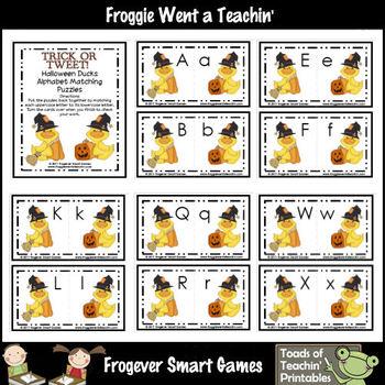 Alphabet--Trick or Tweet Halloween Ducks