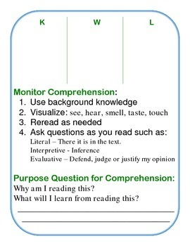 Literacy Center Trifold