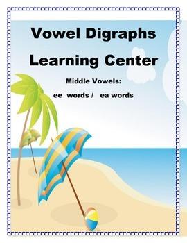 Literacy Center Vowel Digraphs ESL Classroom