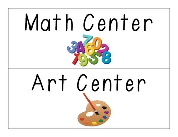 Literacy Center Wall Headers