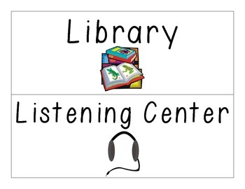 Literacy Center Wall Headers