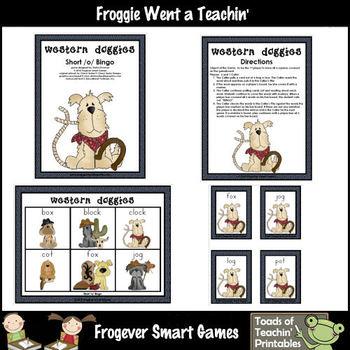 Literacy Center--Western Doggies (short o words)