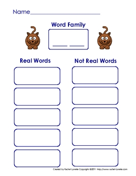 """Literacy Center Word Building with Short """"a"""" CVC Word Families"""