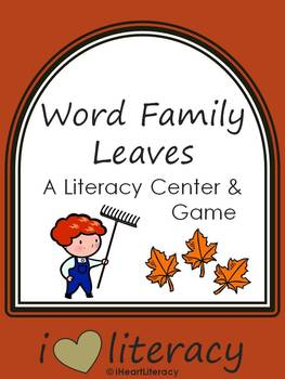Literacy Center: Word Family Leaves (For Fall / Autumn)
