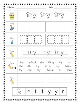 Literacy Center Word Work BUNDLE: Printables AND Mats for Fry's SECOND 100 Words