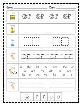 Literacy Center Word Work BUNDLE: 100 Printables AND 100 Mats for Sight Words!!