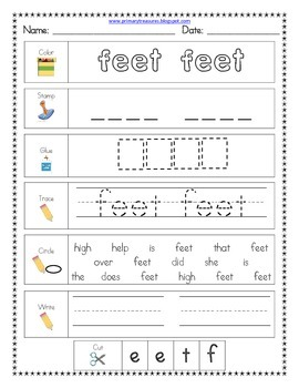 Literacy Center Word Work: Printables for Fry's Sight Words Set 11 {251-275}