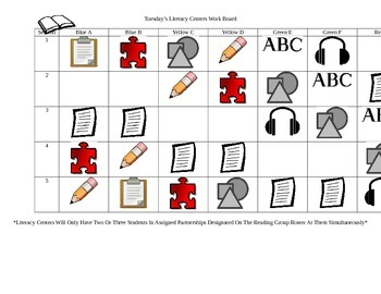 Literacy Center Work Boards