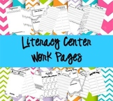 Literacy Center Work Pages