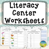 Literacy Center Worksheets