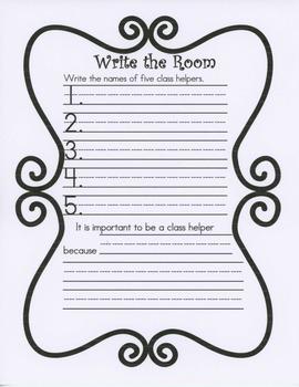Literacy Center: Write the Room