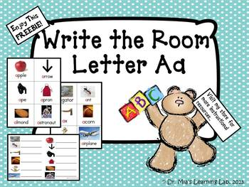 Literacy Center: Write the Room Letter Aa