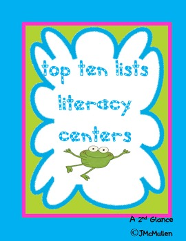Literacy Center,  Writing Top 10 Lists