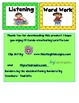 Literacy Center task cards- with fun border