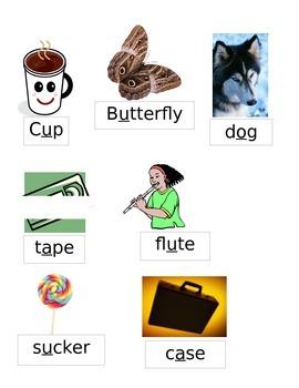 Literacy Center vowel game