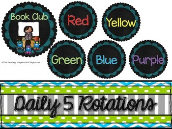 Literacy Center/Daily 5 rotation board FREEBIE
