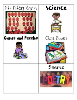 Literacy Center/Station Activity Schedule Cards