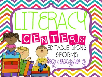 Literacy Center/Station Editable Signs