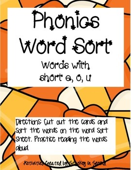 Literacy Centers 1-2 (Short e/o/u, Commands/Exclamations, Root Words)