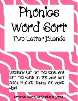 Literacy Centers 1-3 (Two Letter Blends, Subjects, Letter Punctuation)