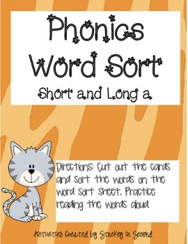 Literacy Centers 1-4 (Short/Long a, Predicates, Commas with Sequence Words)