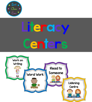 Literacy Center Labels