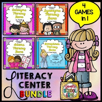 Literacy Centers BUNDLE (Synonyms, Antonyms, Idioms and Homophones Games)