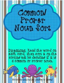Literacy Centers 2-3 (Soft c/g Phonics, Abbreviations, Common/Proper Nouns)