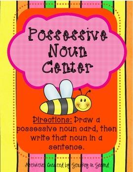 Literacy Centers 2-5 (Three Letter Blends, Possessive Nouns)