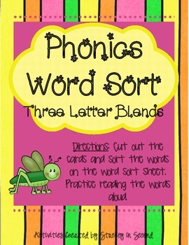 Literacy Centers 2-5 (Three Letter Blends, Possessive Nouns)