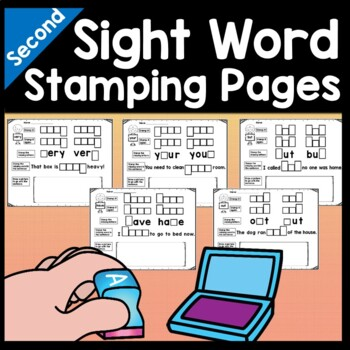 Second Grade Literacy Centers with Ink Stamps {46 words!}