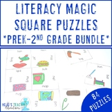 BUNDLE OF 30 Literacy Magic Square Puzzles for ELA Games,