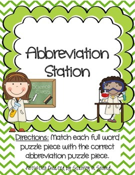 Literacy Centers 3-1 (Long a Phonics, Action Verbs, Abbreviations)