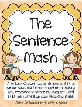 Literacy Centers 3-5 (Long u Phonics, Combining Sentences, Puncutation)