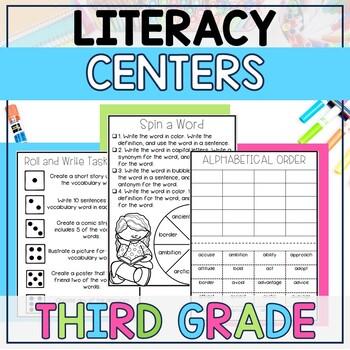Literacy Centers BUNDLE (3rd Grade Year-Long Set)