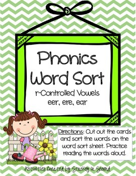 Literacy Centers 4-4 (r-Controlled Vowels, Irregular Verbs