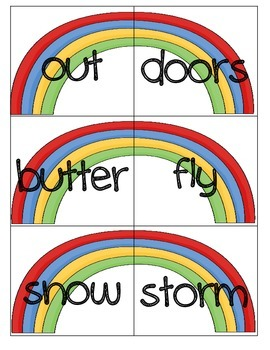 Literacy Centers 4-5 (r-Controlled Vowels, Compound Words, Contractions)