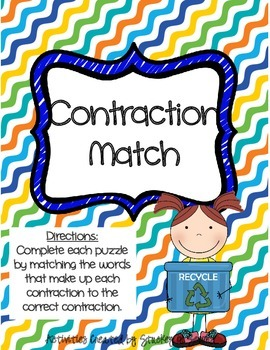 Literacy Centers 5-4 (Variant Vowels, Contractions, Homophones)