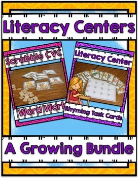 Literacy Centers ~ A Growing Bundle