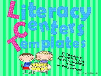 Literacy Center Resources (17 Templates Included....)