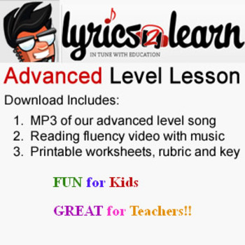Literacy Centers   Attitude Control Lesson by Lyrics2Learn
