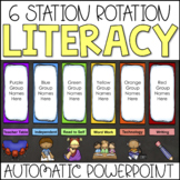 Literacy Centers Automatic Center Rotation PowerPoint