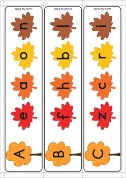 Autumn / Fall Literacy Centers