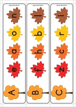 Autumn / Fall Literacy Centers for Kindergarten