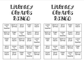 Literacy Centers BINGO