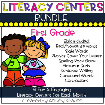 First grade teaching resources teachers pay teachers literacy centers bundle 1st grade fandeluxe