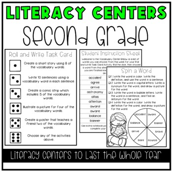 Literacy Centers for 2nd Grade