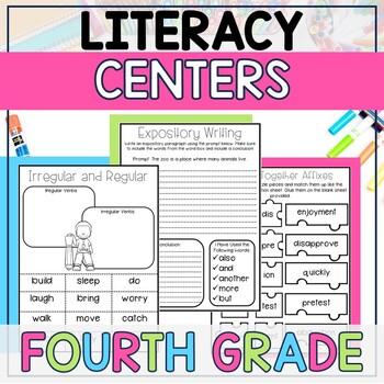 Literacy Centers BUNDLE (4th Grade Year-Long Set)