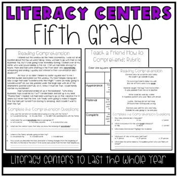 Literacy Centers for 5th Grade