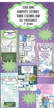 Literacy Centers BUNDLE for a whole year that is Aligned to CCSS!